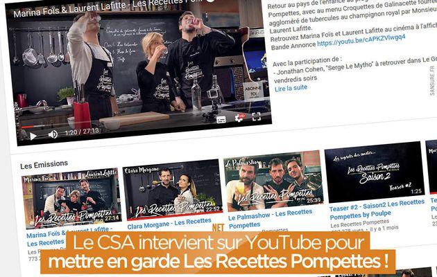 Le CSA intervient sur YouTube pour mettre en garde Les Recettes Pompettes ! #RecettesPompettes