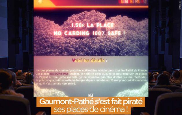 Gaumont-Pathé s'est fait piraté ses places de cinéma ! #fail