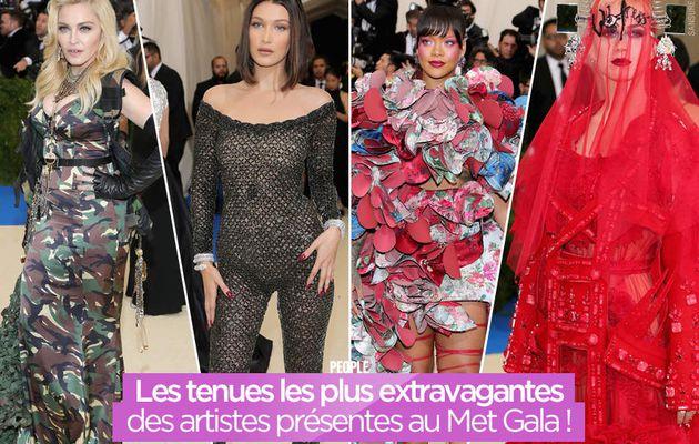 Les tenues les plus extravagantes des artistes présentes au Met Gala ! #MetGala