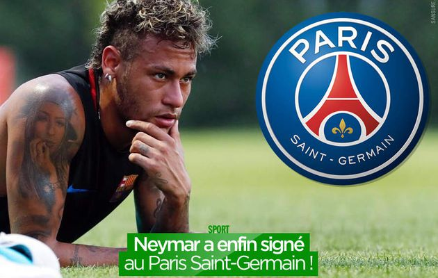 Neymar a enfin signé au Paris Saint-Germain ! #BemvindoNeymarJR
