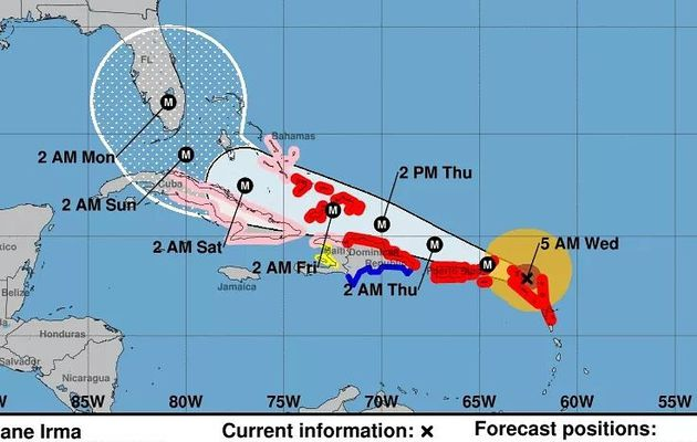 Cyclone Irma - derniéres actualisations