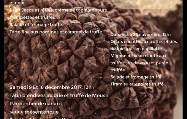 Repas maison des truffes de Boncourt sur Meuse saison 2017