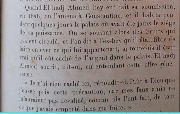 Le sort d'Ahmed-Bey après la prise de Constantine ?