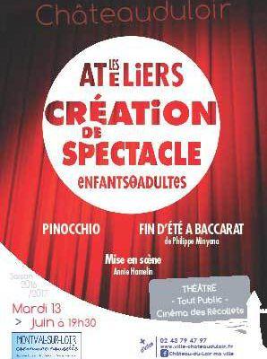 """Ateliers """"Création de Spectacles"""""""