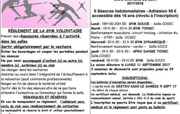 Gym volontaire Château-du-Loir