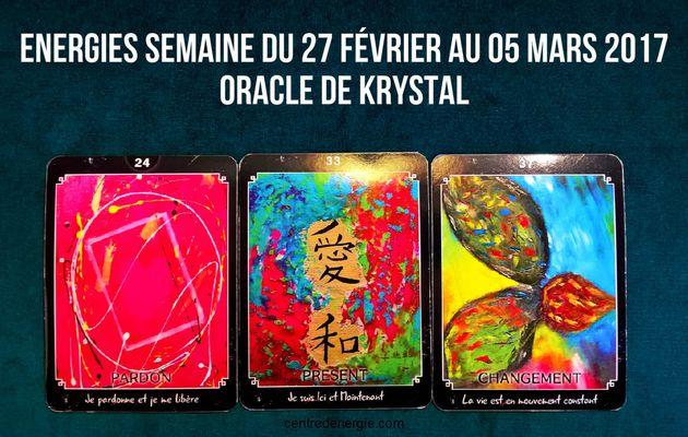 Energies semaine du 27 février au 05 mars 2017 Cartes Oracle de krystal