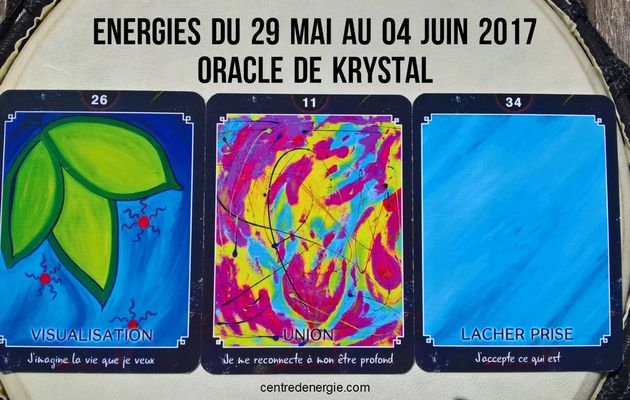 Energies du 29 mai au 04 juin 2017 Oracle de Krystal