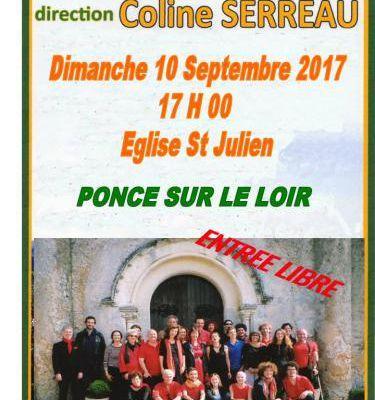 Poncé-sur-Loir : concert de la Chorale du Delta