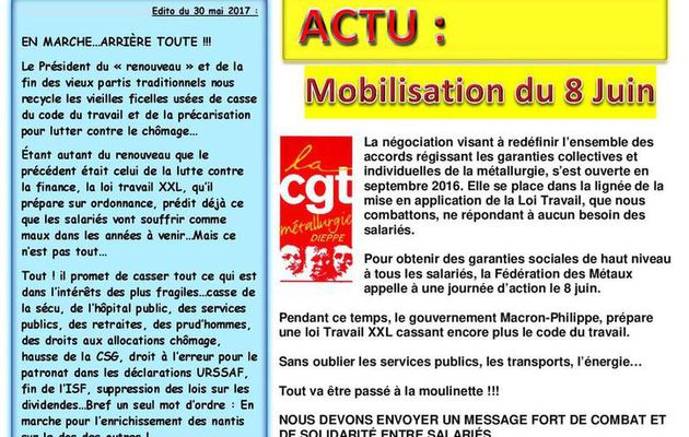 JOURNAL DE L'UNION LOCALE CGT DE DIEPPE N°17