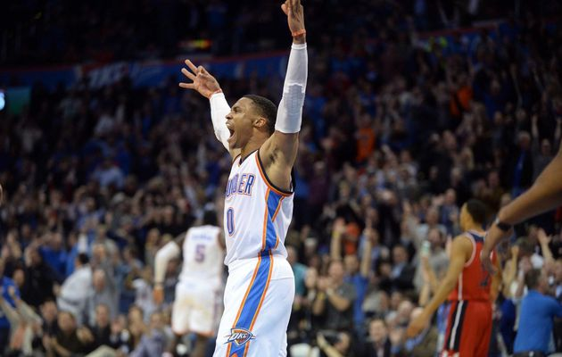 Russell Westbrook voit toujours triple