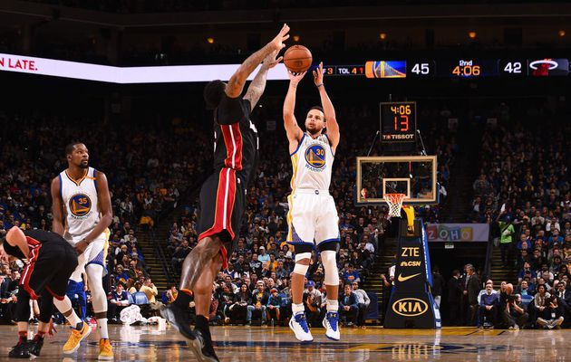 Stephen Curry et Kevin Durant portent Golden State face au Heat