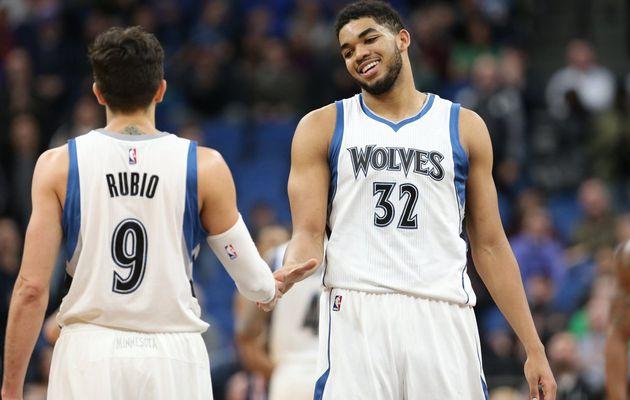 Un stratosphérique duo Ricky Rubio (22 points et 19 passes) - Karl-anthony Towns (39 points et 13 rebonds) fait chuter les Wizards