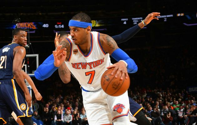 Carmelo Anthony guide les Knicks face à Indiana