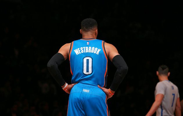Russell Westbrook signe un 33e triple-double de la saison face à Brooklyn