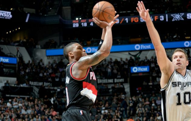 Le duo Damian Lillard (36 points) - CJ McCollum (26 points) fait tomber les Spurs