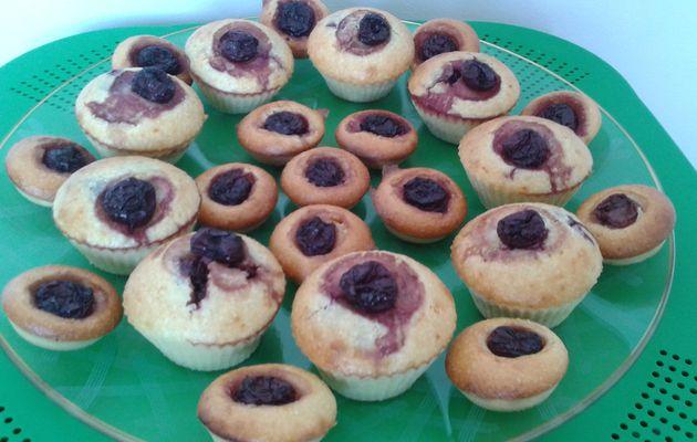 Muffins noix de coco cerises