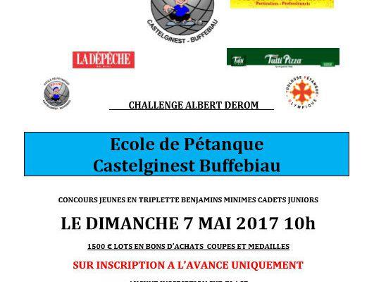 "BUFFEBIAU ""CASTELGINEST"" 31 sera la VIIIème étape du Challenge EDUCNAUTE-INFOS"