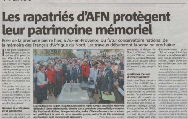 Aix en Provence (13) Les rapatriés d'AFN protègent  leur patrimoine mémoriel.