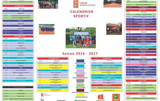 Calendrier tournois 2017