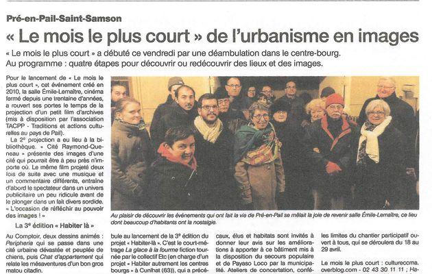 Retour sur... la balade urbaine cinématographique dans le centre-bourg de Pré-en-Pail-St-Samson !
