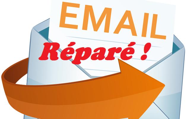 Problème de réception d' Email résolu !