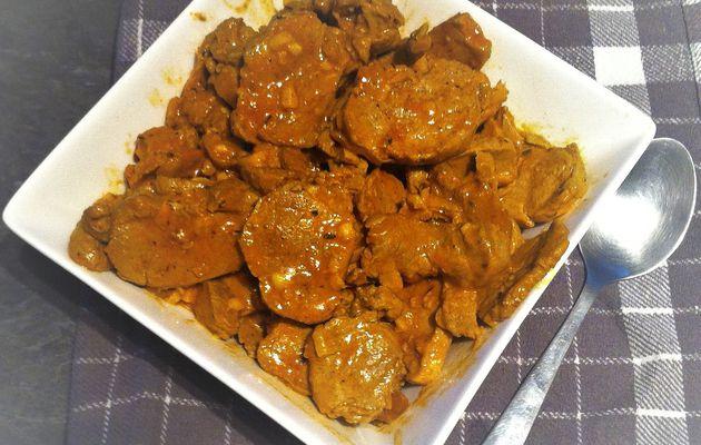 Sauté de mignon de porc au curry