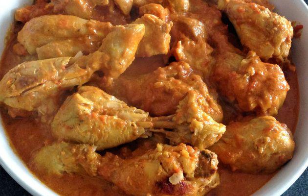 Mijoté de pilons de poulet tomate/coco