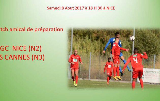 Match de Préparation :OGC  NICE - AS  CANNES.    Le résultat.