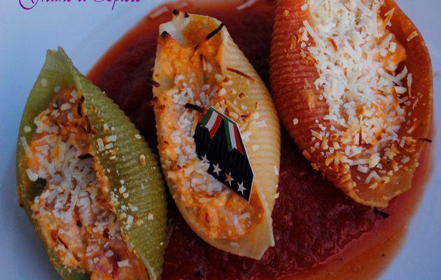 Conchiglie farcies au Chorizo & au Philadelphia