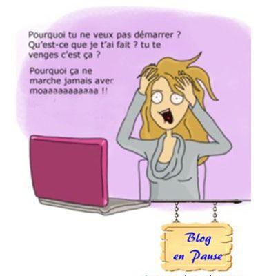 Blog en pause... panne Pc...