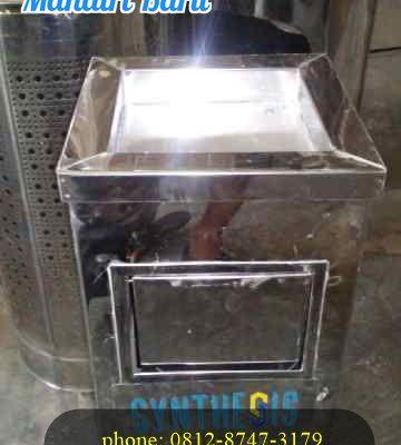 3 desain ukuran tempat sampah stainless model kotak harga termurah di Jogjakarta