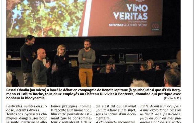 """Vino veritas"". Un bel article de Var Matin."