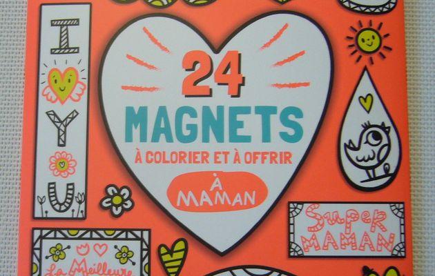 Dire je t'aime avec le kit 24 magnets à colorier et à offrir à maman - Editions Deux Coqs d'Or