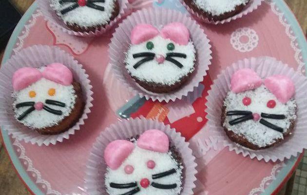 Nos cupcakes petits chats !
