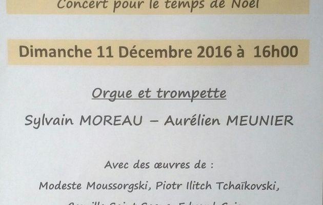 Concert dimanche 11 décembre 2016 à 16h00
