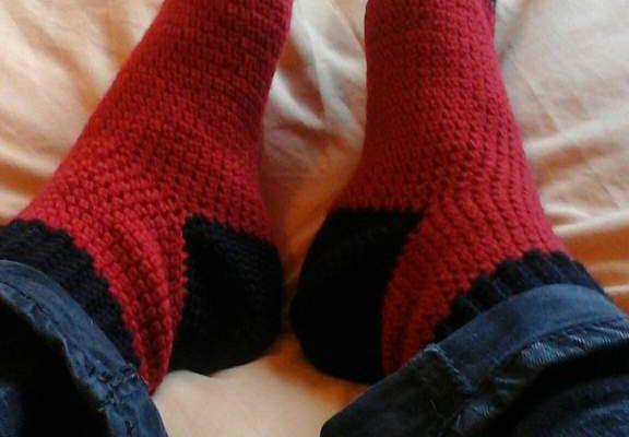 Chaussettes au crochet,