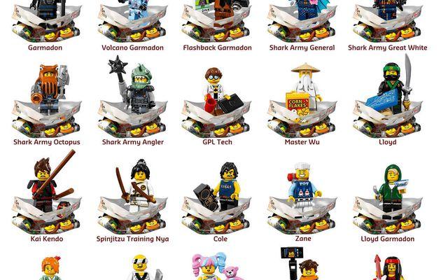 "[NEWS] NOUVELLE SÉRIE MINIFIGURES ""LEGO NINJAGO MOVIE"""