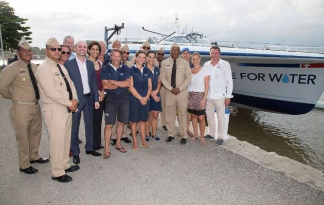 Race for Water safely docksided in the Dominican Republic