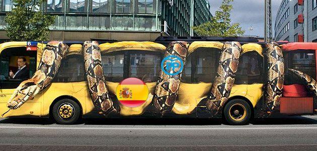 El PP contraataca y saca su propio bus a las calles