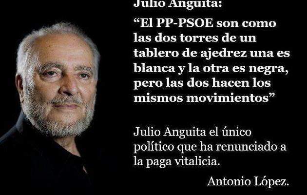 Julio Anguita, el único político español que ha renunciado a su pensión vitalicia