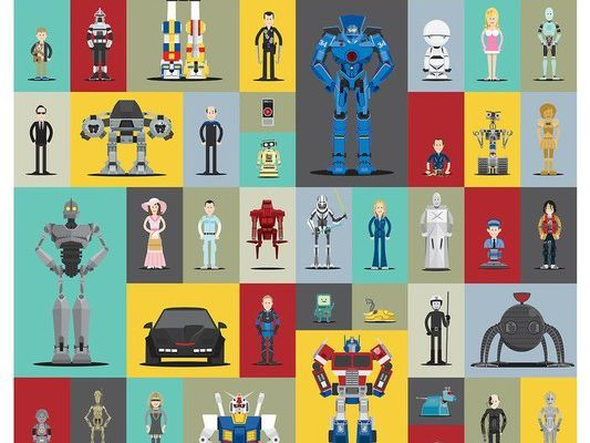 des robots de fiction
