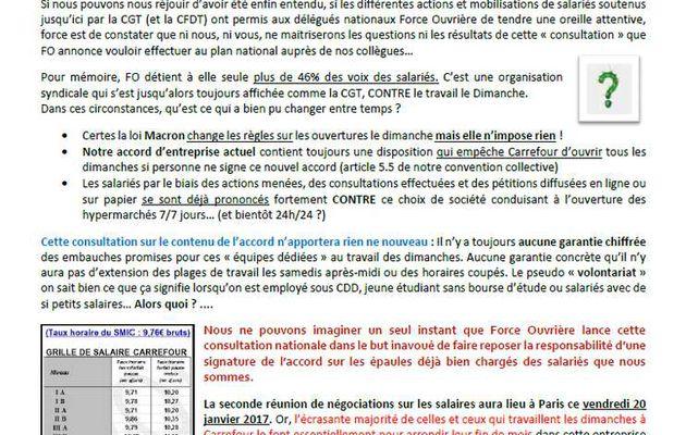 Journée d'actions CGT Carrefour - Non aux ouvertures le dimanche !