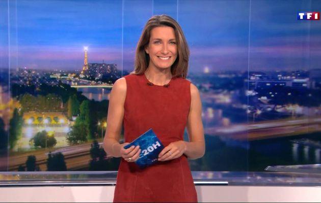 Anne-Claire Coudray JT 20H TF1 le 29.10.2016