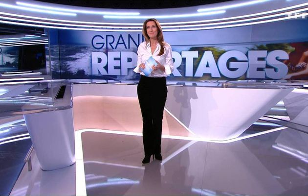 Anne-Claire Coudray JT 13H TF1 le 20.11.2016