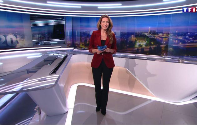 Anne-Claire Coudray JT 20H TF1 le 14.01.2017