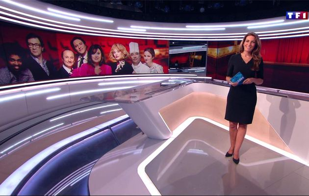Anne-Claire Coudray JT 20H TF1 le 21.01.2017