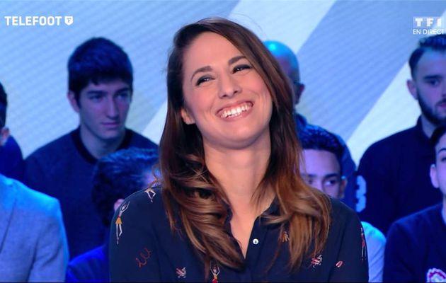 Charlotte Namura Téléfoot TF1 le 26.02.2017