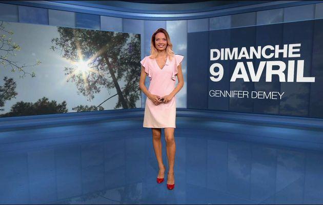 Gennifer Demey Météo M6 le 09.04.2017