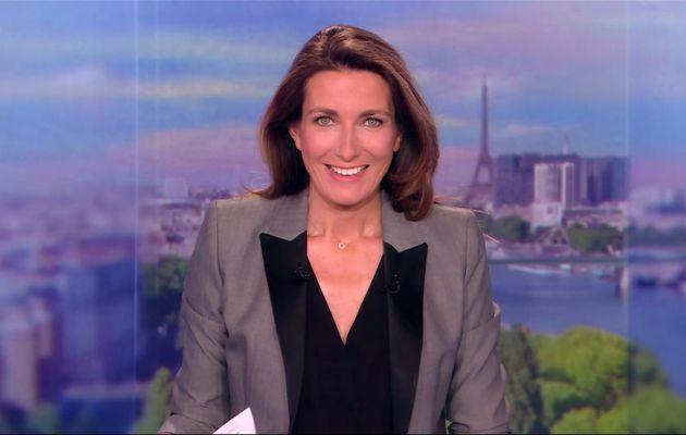 Anne-Claire Coudray JT 20H TF1 le 16.04.2017