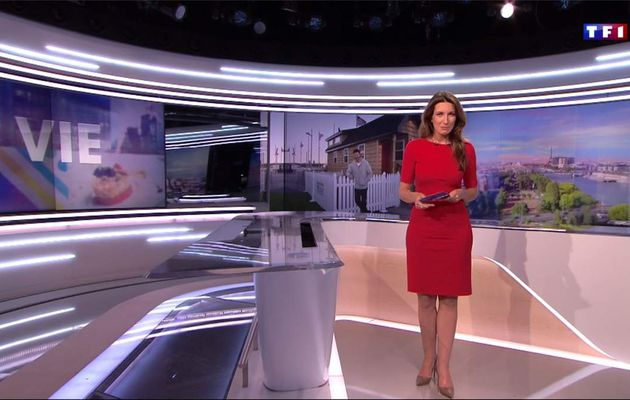 Anne-Claire Coudray JT 20H TF1 le 19.05.2017